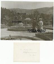 Schloss Miramare Triest Italien Frauen Denkmal Figur Garten sehr alte Ansicht