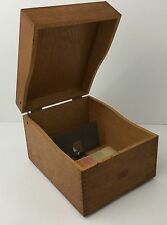 Antique Vintage WEIS Wood File Box Primitive Office Kitchen Recipe Made In USA