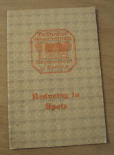 "1928 Home Exercise Booklet~""REDUCING IN SPOTS""~Delineator/Butterick~ILLUSTRATED~"