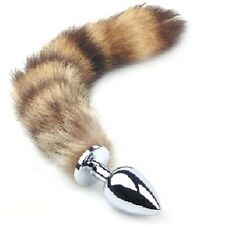 USA SELLER Large Metal Butt Plug Faux Fox Tail Anal Funny Sexy Love Games Toy