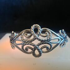 Carolyn Pollack Sterling Silver roping W/Roping and High Polish Fillagree Bracel