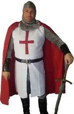 St George English templars knights Chain Mail Costume Fancy Dress