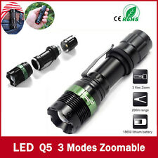 3000 Lumen Zoomable CREE XM-L Q5 LED Torcia Lampada tascabile Luminoso Light