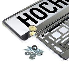 2 Stück Kennzeichen in Metallic - Chrom Nummernschild Rahmen KFZ - Halter *Neu*