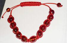 NWOT.Ladies red Shamballa style frienship bracelet