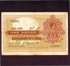 Cyprus, 1 Pound 1951, P-24 * King George *