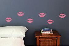Lips kisses lipstick, set of 20, kiss Wall decal fun girly stickers lady makeup