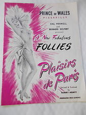 Plaisirs de Paris Programme From The Prince of Wales, Picadilly, London