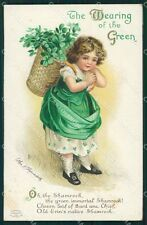 St Patrick Day Clapsaddle Relief postcard cartolina QT5905