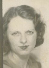 VINTAGE PHOTOBOOTH AMERICAN BEAUTY LIPSTICK LIPS OFF CENTER ARTISTIC OLD PHOTO
