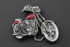 RED 3D MOTORCYCLE BELT BUCKLE METAL BIKER BIKE