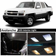 18x White LED Lights Interior Package Kit 2002-2006 Chevy Avalanche