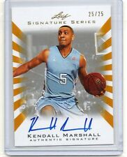 2012-13 Kendall Marshall Leaf Signature Series GOLD AUTO RC #D 25/25 (P22)
