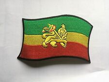 GREEN GOLD RED with GOLD LION OF JUDAH 15cm x 8cm