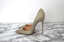 Christian Louboutin iriza Strass 120mm Cristal Stiletto Talla 40/7UK RRP £ 2195