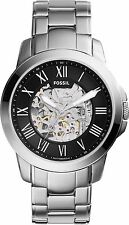 Fossil Men's Grant ME3103 Silver Stainless-Steel Automatic Dress Watch