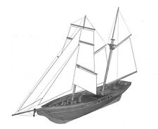 Scale 1/70 Laser-cut Wooden Sail boat Model kit: New port 1830 Yacht ship model