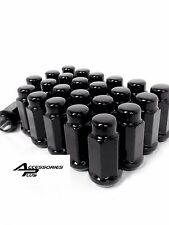 24 Pc 2015-2017 FORD F-150 BLACK AFTERMARKET LUG NUTS 14mm x 1.50 # AP-1909LBK