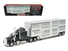 KENWORTH W900 BLACK POT BELLY LIVESTOCK 1/43 MODEL BY NEW RAY 15243