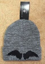 Supernatural Castiel Wings Marled Gray Watchmen Beanie Hat Ski Cap NWT!