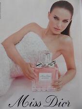 Publicité  PARFUM  MISS  DIOR  avec   Natalie Portman      2013  REF  6771