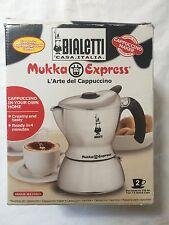 Bialetti Mukka Express 2 Cup Stainless Espresso Maker Percolator NIB!