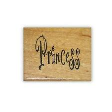 PRINCESS mounted Word rubber stamp #5