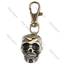 Classic Skull Head Cool Quartz Pocket Key Chain Watch Pendant Gent Boys