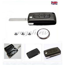 3 BUTTON FITS FLIP REMOTE KEY FOB CASE/BLADE CITROEN C4 C5 C6 C8 Refurbishment
