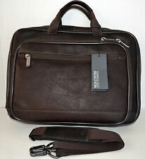 Kenneth Cole Point Of De-port-ure Leather Men's Bag Briefcase Crossbody MSRP$400