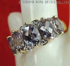 5 MYSTIC TOPAZ Vermeil Sterling Silver .925 Estate WEDDING Anniversary RING sz 8