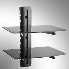 2-shelf Glass LCD LED Plasma TV Wall Mount Shelf Bracket for SKY DVD Box Wii PS3