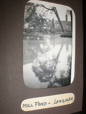 Old amateur photograph mill pond at Longner Shropshire c1930s