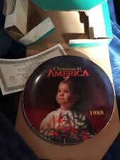 1988 Christmas In America Collectors Plate With Original Box And COA