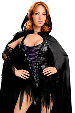 Women's Witch Party Dress with Cape Sleeves Fancy Dress Costume Halloween