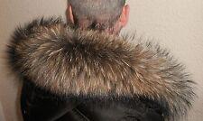 Waschbär Pelz Kapuzen Kragen XXL Pelzkragen 66 cm Fellkragen Fuchs Fell Jacke