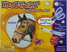 Mostaix Red Ribbon Series Horse Mosaic Art Set Toy Kids Play Game Christmas Gift