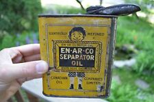 Vintage Rare Enarco Separator White Rose Oil Can Canadian Companies Sign Tin