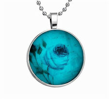 PunkStyle Valentine's Day Rose Glow in the Dark Stainless Steel Necklace Pendant
