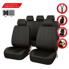 Premium Black leather Car Seat Covers Holden TOYOTA Corolla RAV4 Honda CRV New