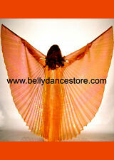 Professional Bellydance Belly Dance Prop Bellydancing Orange Wings 3330
