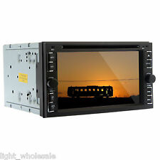 "Double 2 DIN 6.2"" Car CD DVD Player Stereo Radio USB/SD BT Touchscreen Mp3 SWC"