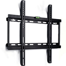SLIM TV WALL BRACKET MOUNT FIXED FOR PLASMA LED LCD 24 27 30 32 37 40 42 50 55""