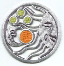 SILVER SUN & MOON with planets EMBROIDERED PATCH **FREE SHIPPING** -c p3789
