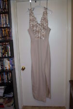 Cachet, Beautiful Long Mother of the Bride Two piece Dress, size 14, Beige