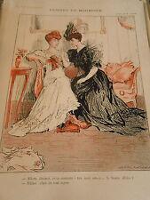 Femmes de Boursier ton mari est ce ...la bonne affaire ? Print Art Déco 1906