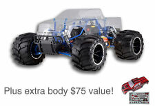 Redcat Rampage MT PRO 1:5 Scale 4x4 gas RC Monster Truck + Extra Body, Pipe, RTR