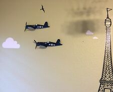 Chance Vought F4U Corsair Air Force Fighter Military Side Airplane 3D Wall Decor