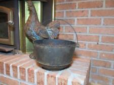 ANTIQUE #4 CAST IRON GRISWOLD  POT WITCH CAULDRON KETTLE FIREPLACE HEARTH  DECOR