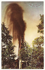 Tulsa,Oklahoma ~ A Gusher in the Glen Pool Oil Field ~ Antique Postcard